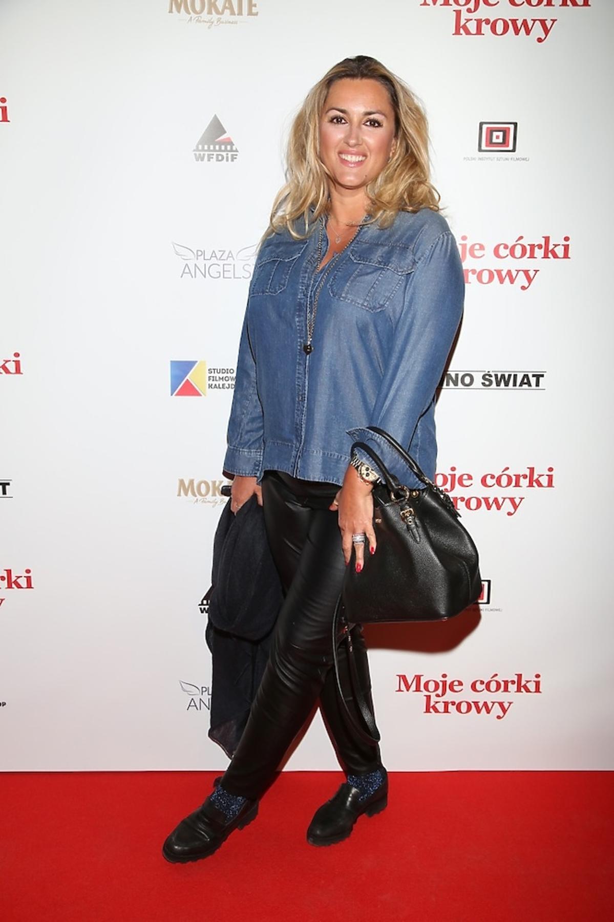 Karolina Szostak na premierze