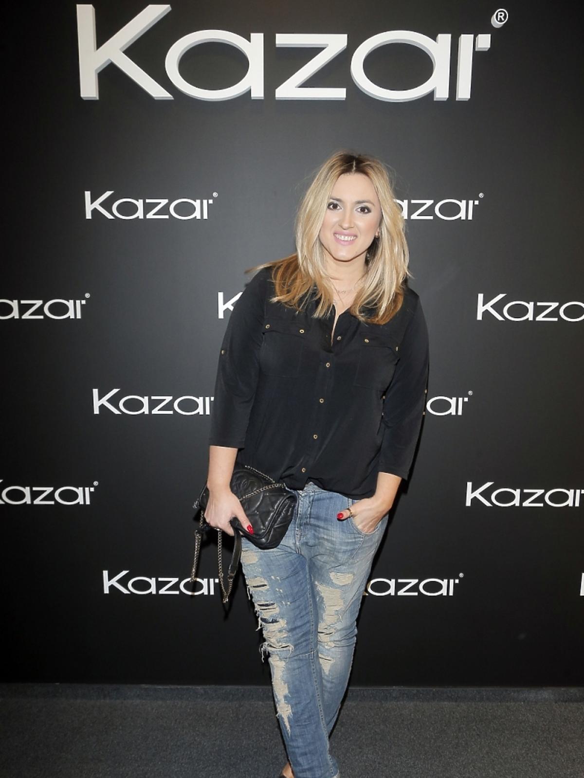 Karolina Szostak na prezentacji butów Kazar