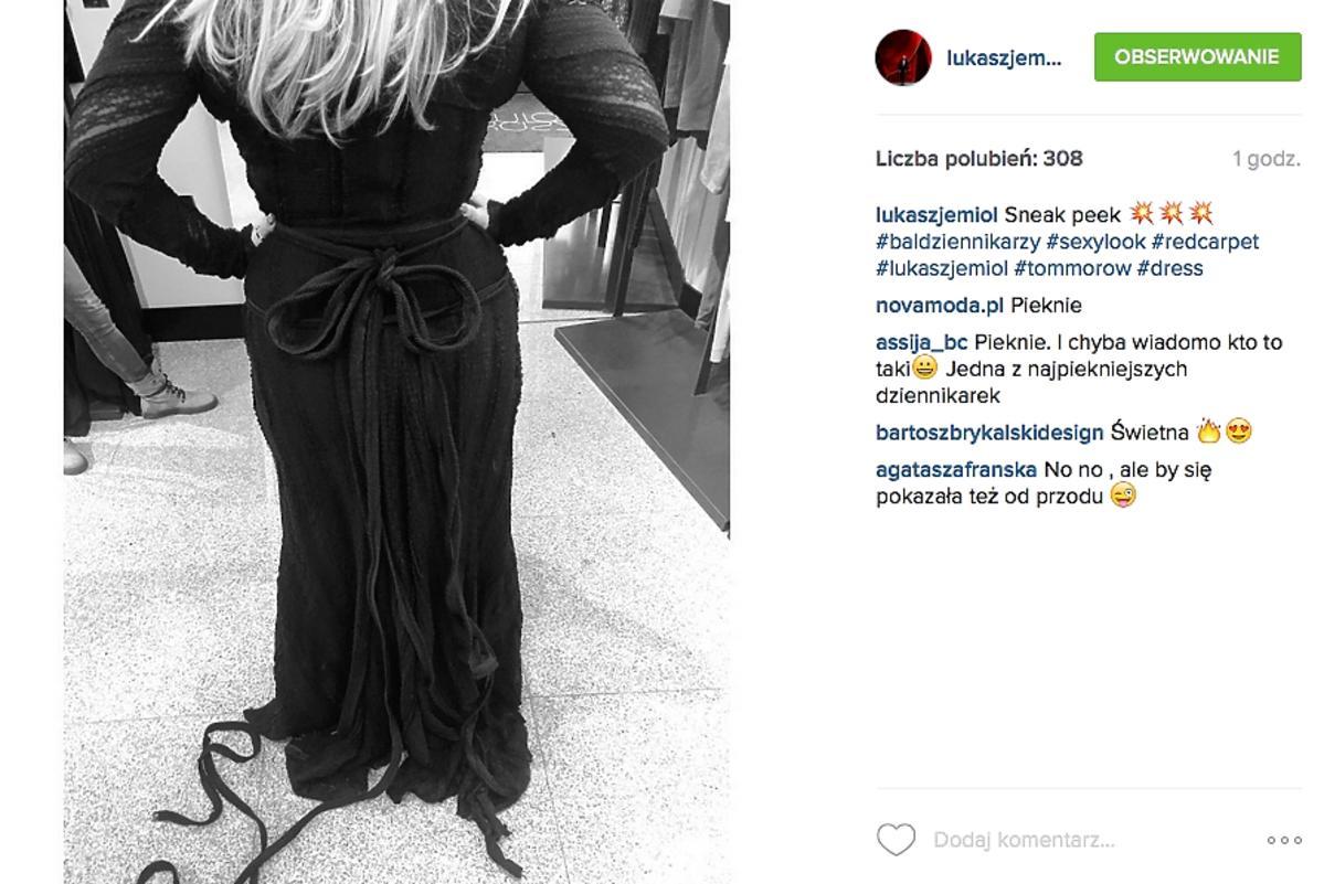 Karolina Szostak w sukni od Jemioła