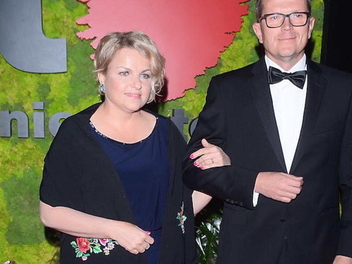 Kasia Bosacka z mężem na Balu Fundacji TVN