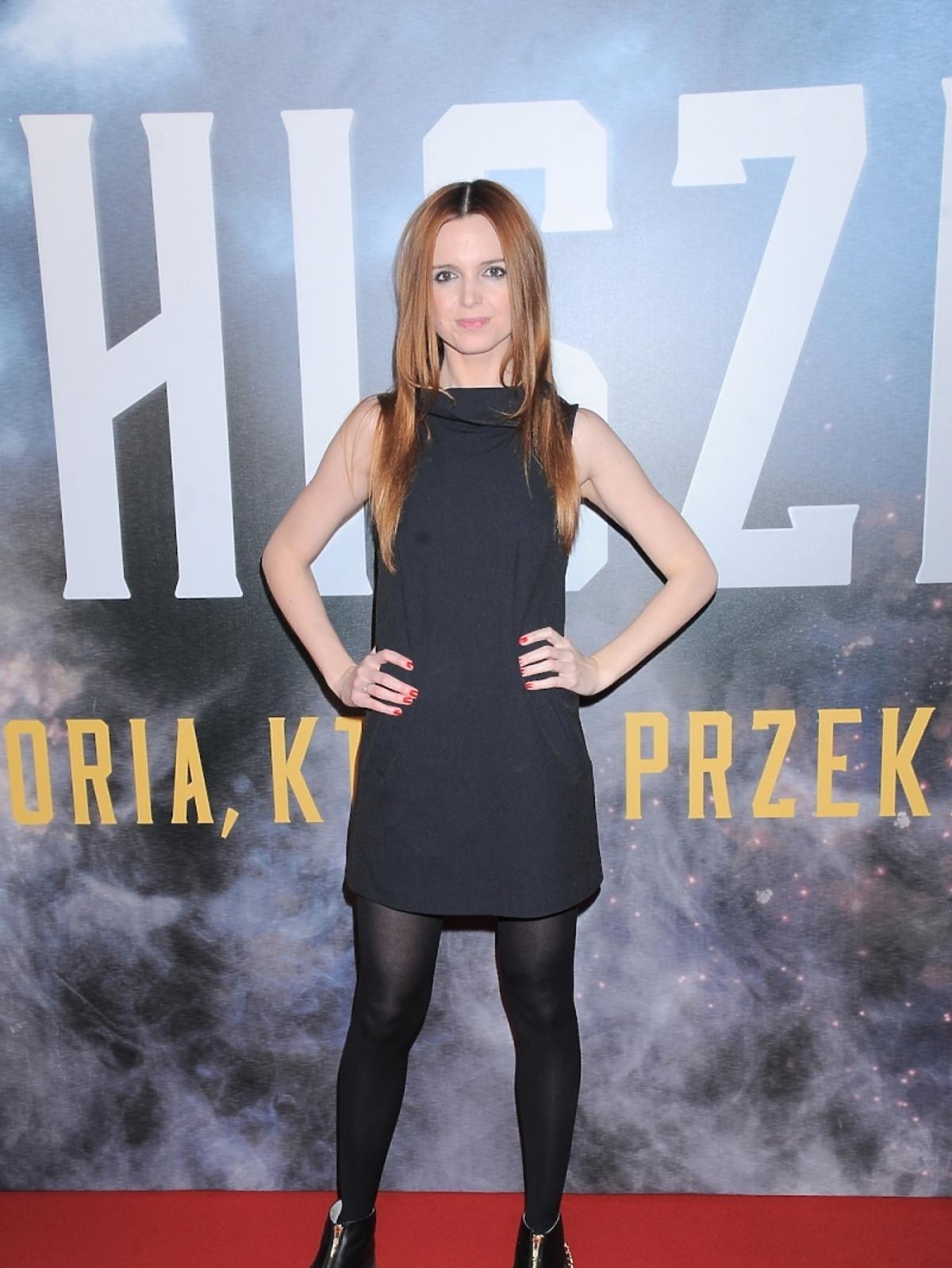 Kasia Burzyńska na premierze filmu