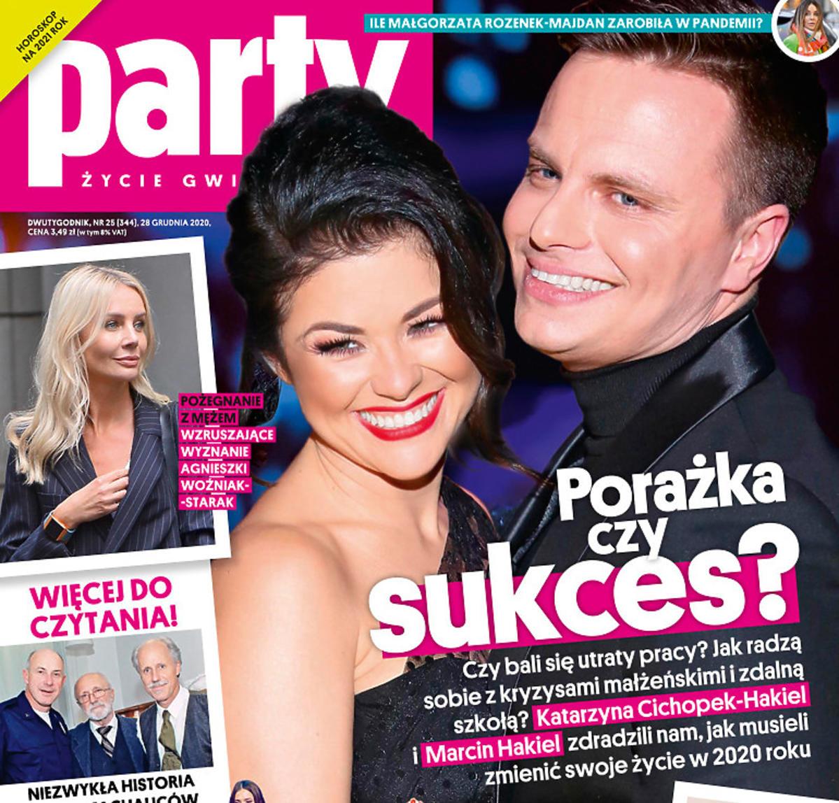Kasia Cichopek i Marcin Hakiel na okładce Party