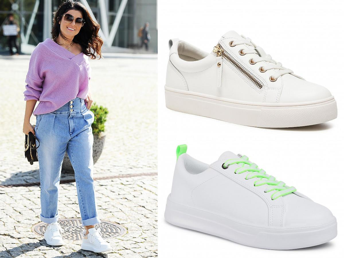 Kasia Cichopek w białych sneakersach na jesień 2021