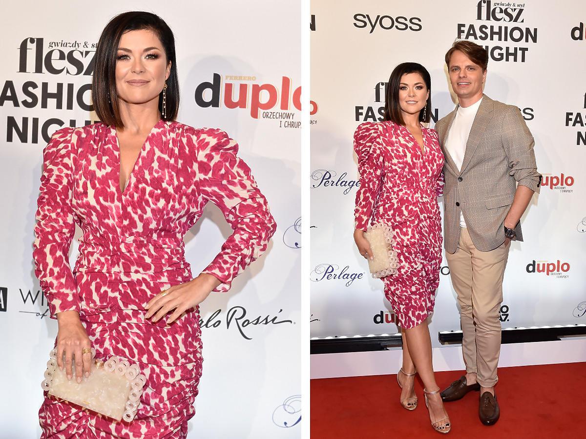 Kasia Cichopek z mężem na Flesz Fashion Night 2021