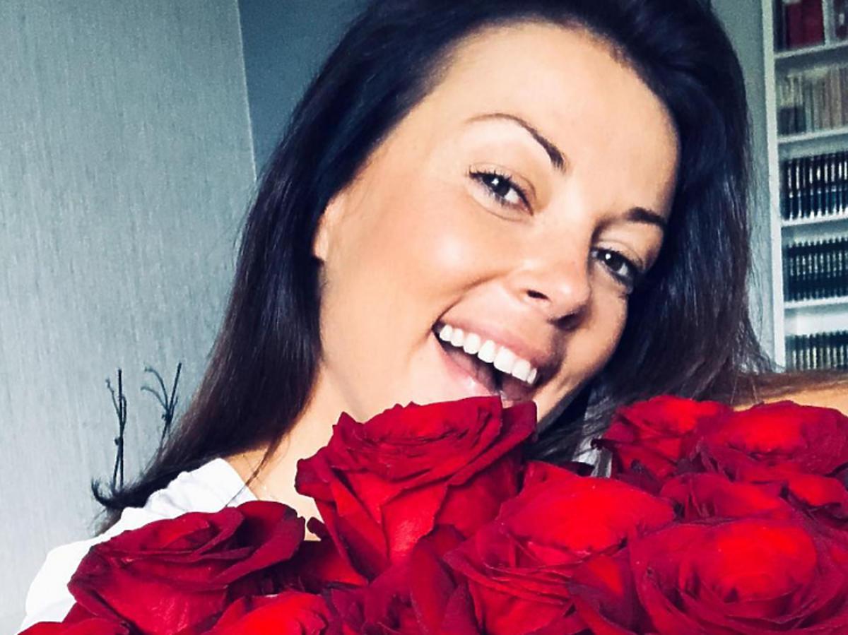 Kasia Glinka z różami