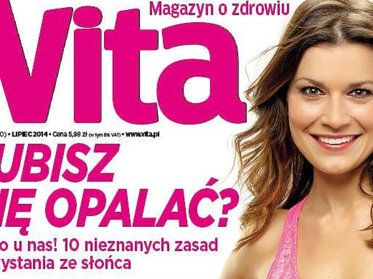 Kasia Kępka na okładce magazynu VITA