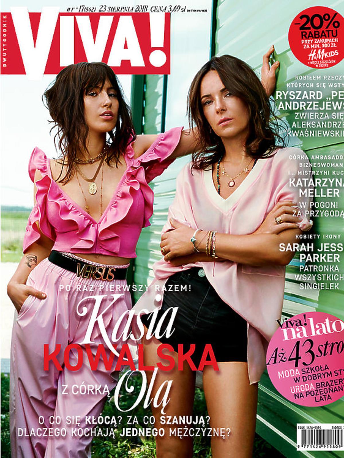 Kasia Kowalska z córką na okładce Viva