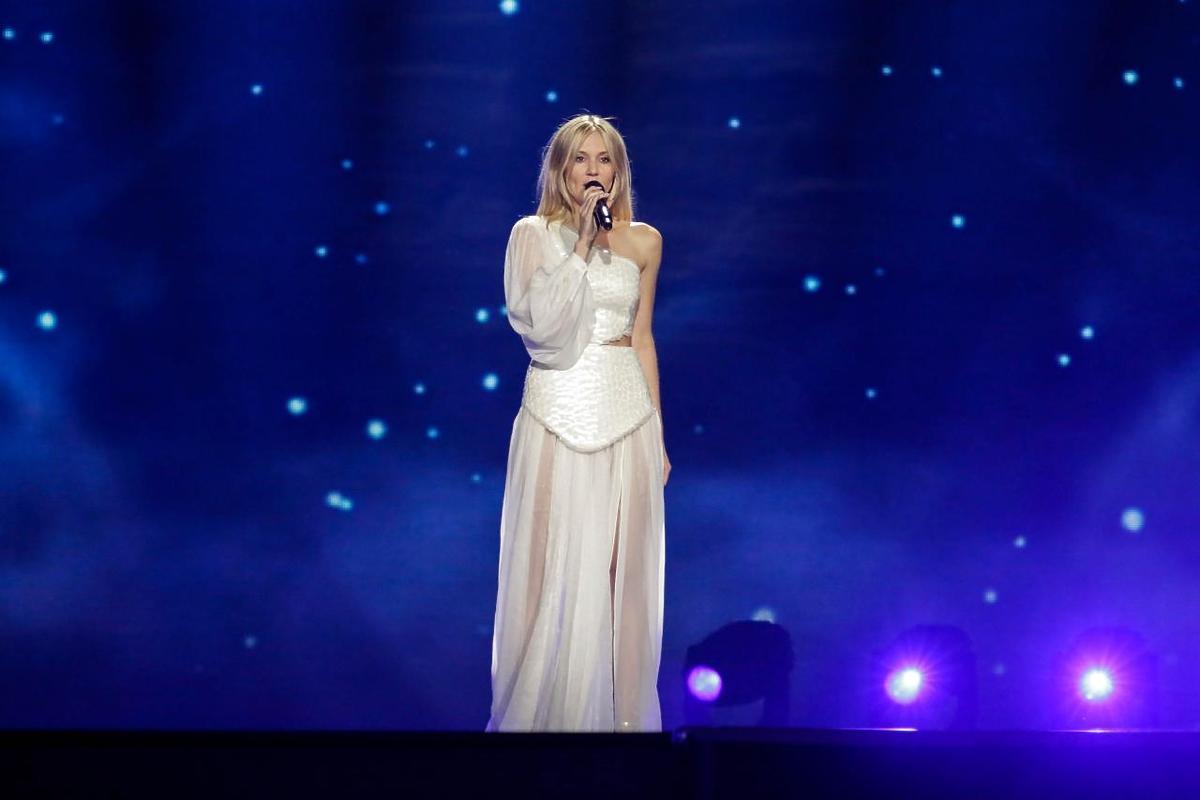 Kasia Moś na próbach do koncertu Eurowizji