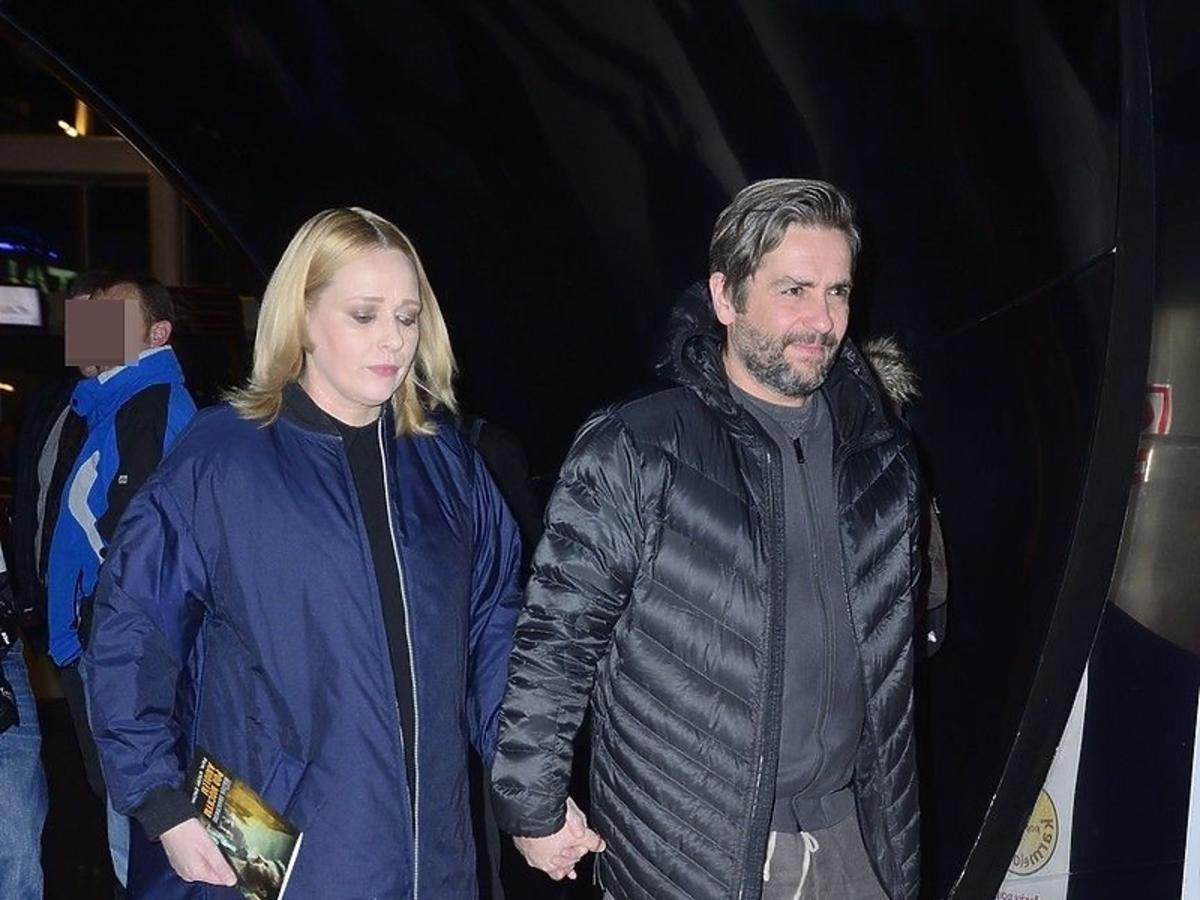 Kasia Nosowska z mężem