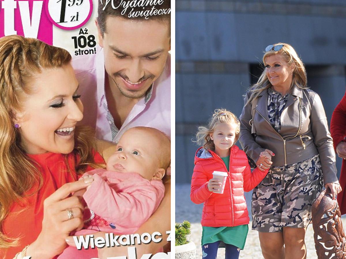 Kasia Skrzynecka z córką - kiedyś i teraz
