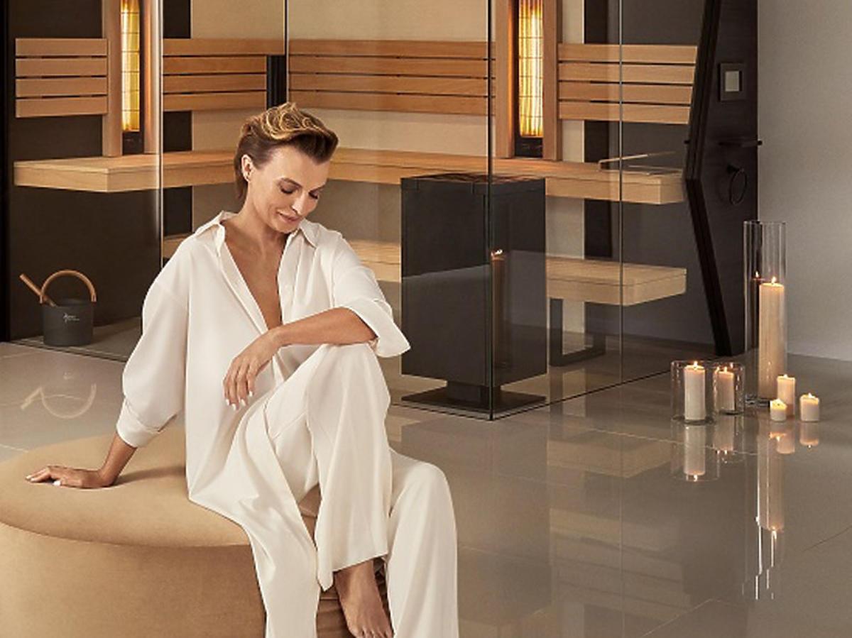 Kasia Sokołowska w saunach Asenso