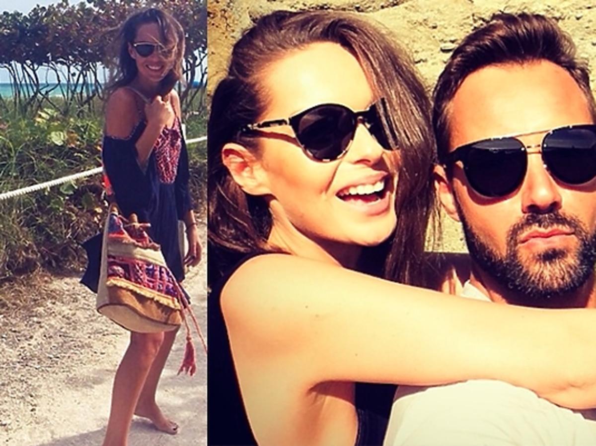 Kasia Sowińska i Paweł Bieńkowski na wakacjach w Miami