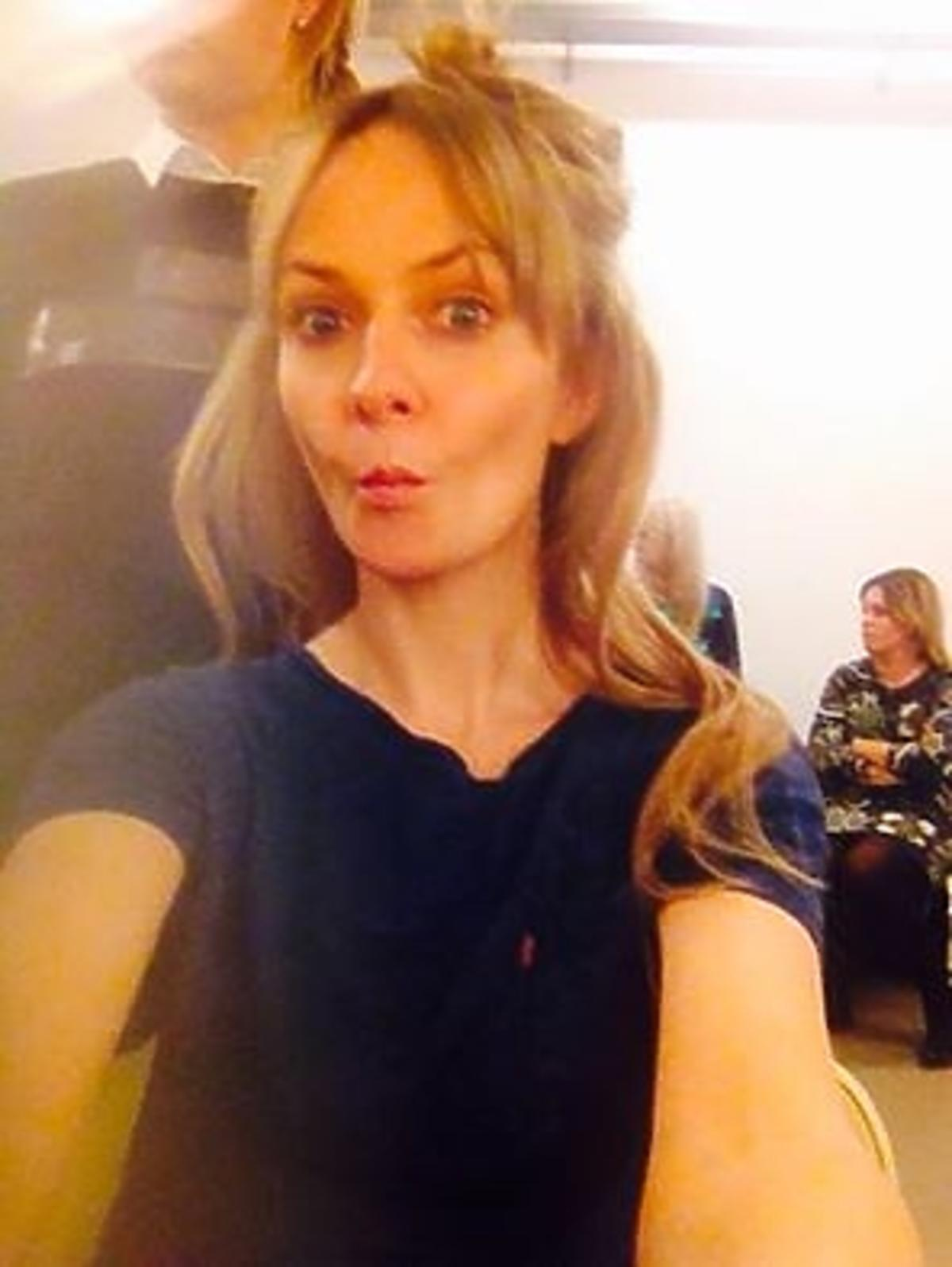 Kasia Stankiewicz robi selfie