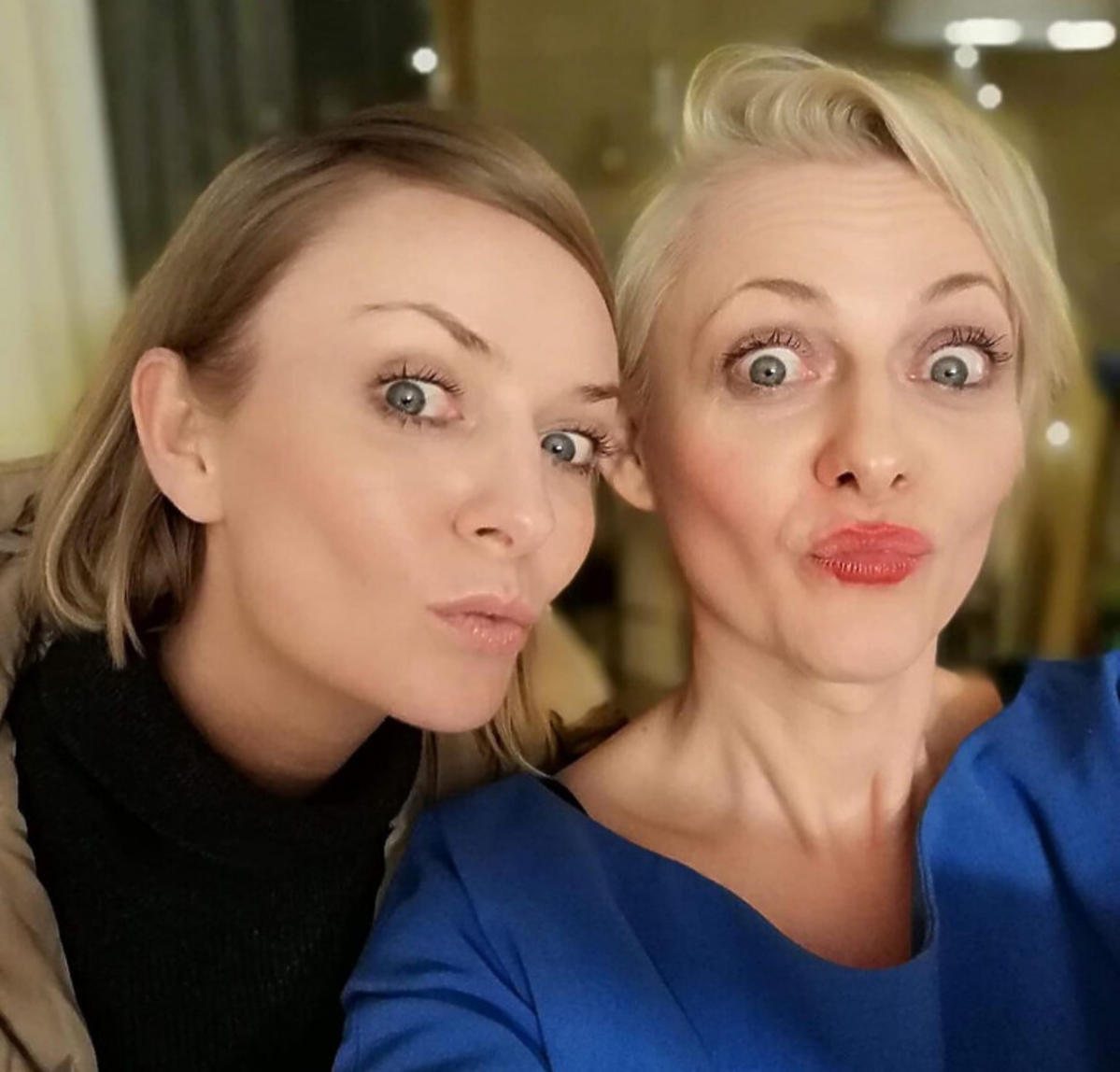 Kasia Stankiewicz z siostrą Anią