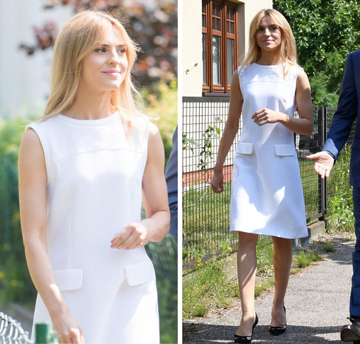 Kasia Tusk w białej sukience