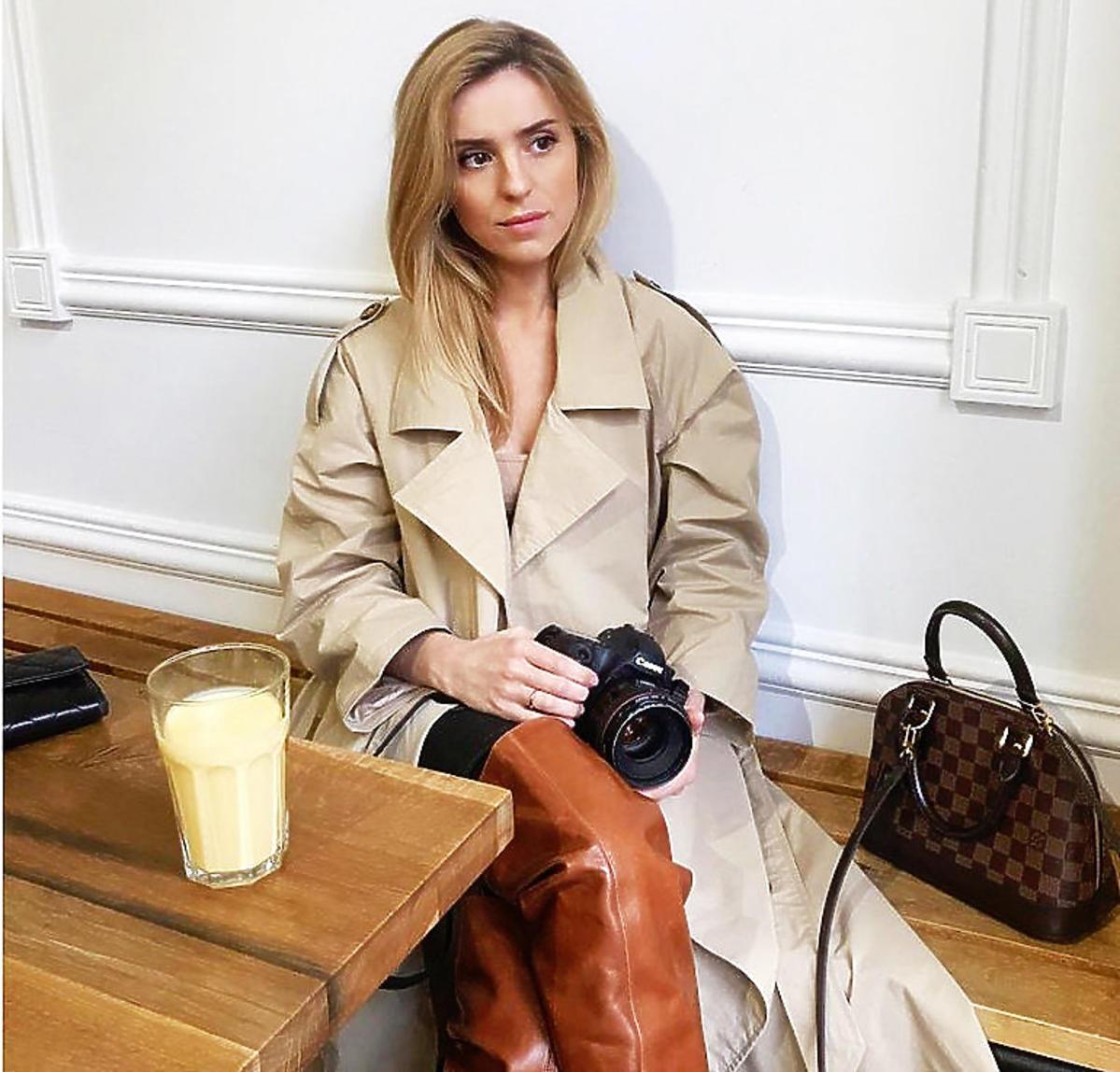 Kasia Tusk w modnym płaszczu