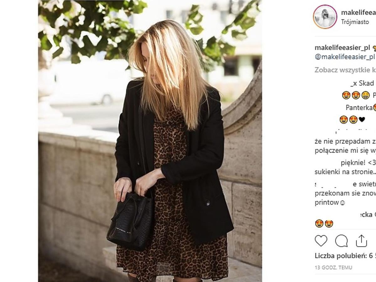 Kasia Tusk w sukience panterka
