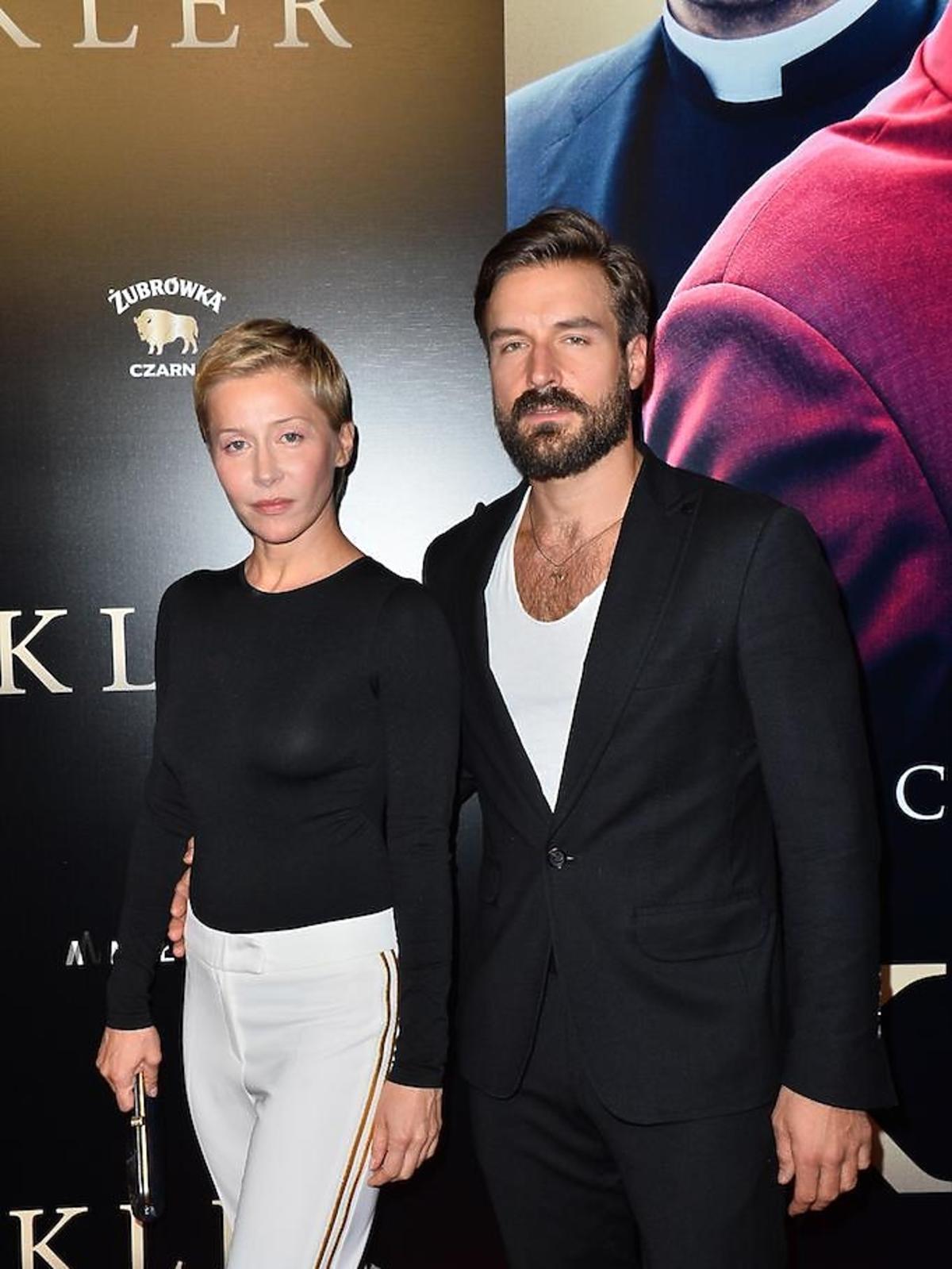 Kasia Warnke i Piotr Stramowski na premierze filmu Kler