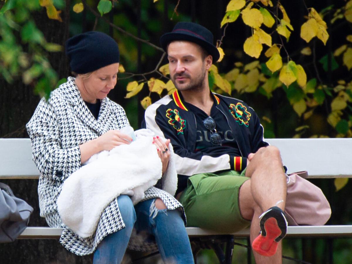 Kasia Warnke i Piotr Stramowski na spacerze