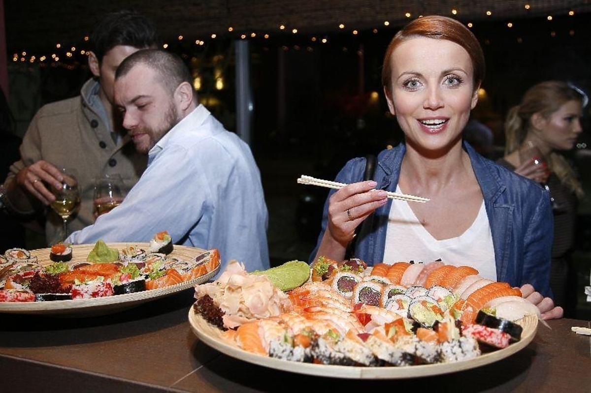 Kasia Zielińska w restauracji Sonii Bohosiewicz SushiBu