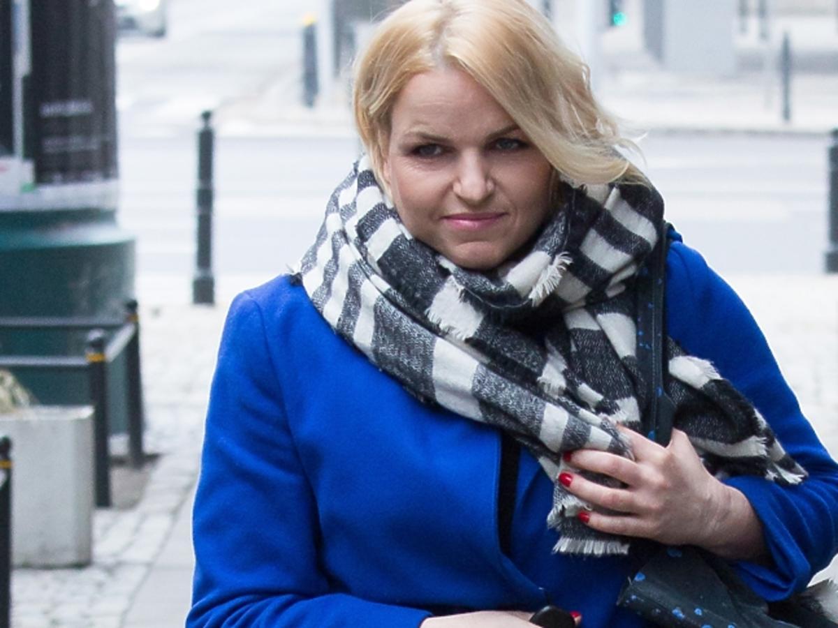 Katarzyna Bosacka w szaliku