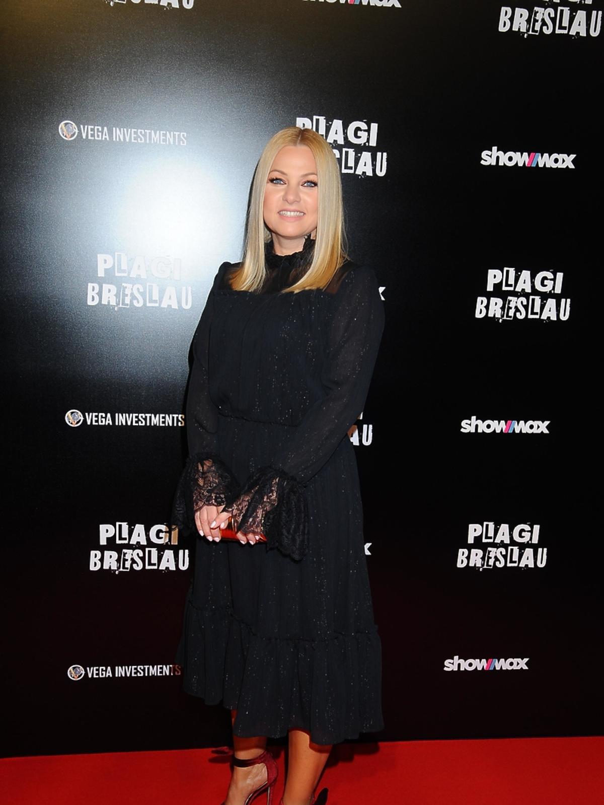 Katarzyna Bujakiewicz na premierze filmu