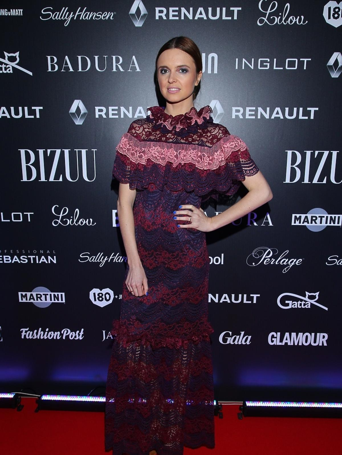 Katarzyna Burzyńska na pokazie Bizuu