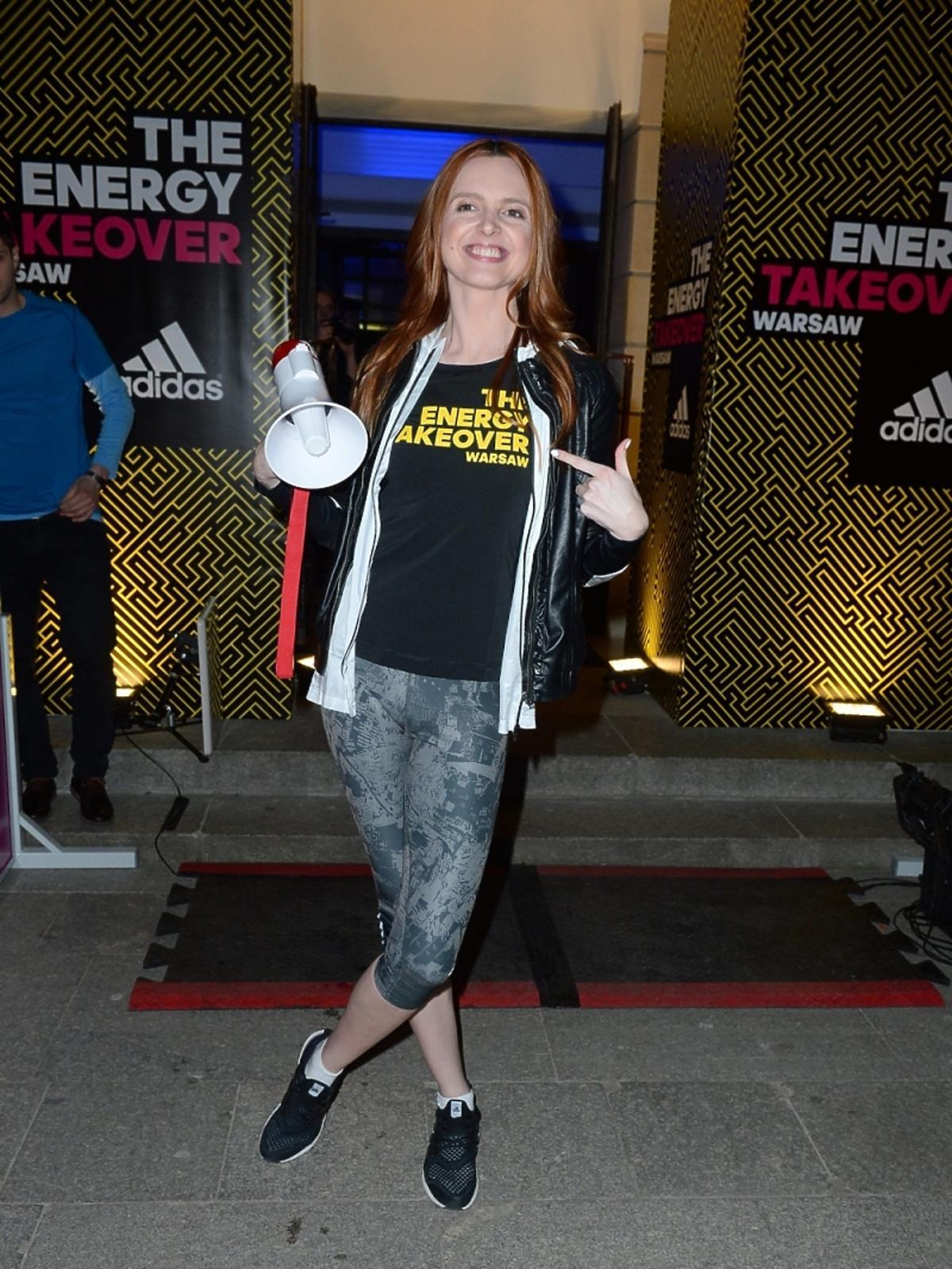 Katarzyna Burzyńska na sportowej imprezie