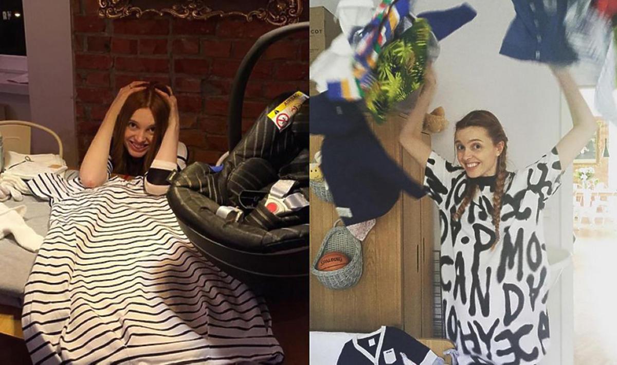 Katarzyna Burzyńska narzeka na uroki macierzyństwa