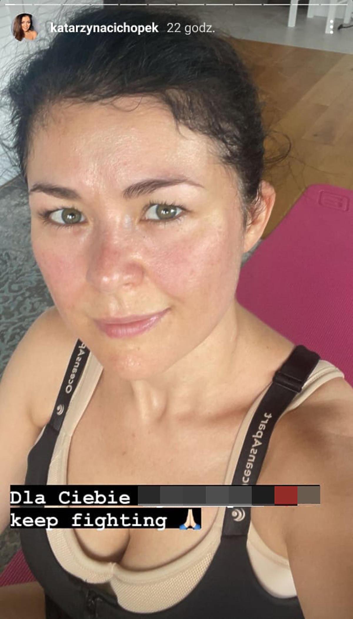 Katarzyna Cichopek bez filtrów i makijażu