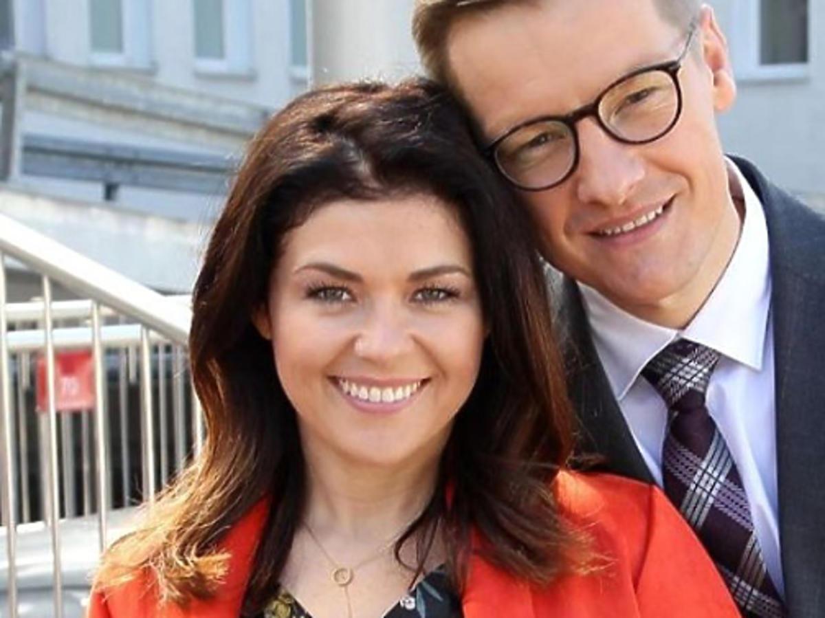 """Katarzyna Cichopek i Marcin Mroczek na planie """"M jak miłość"""""""