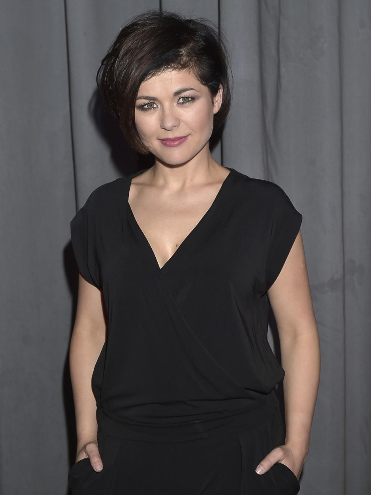 Katarzyna Cichopek na premierze spektaklu