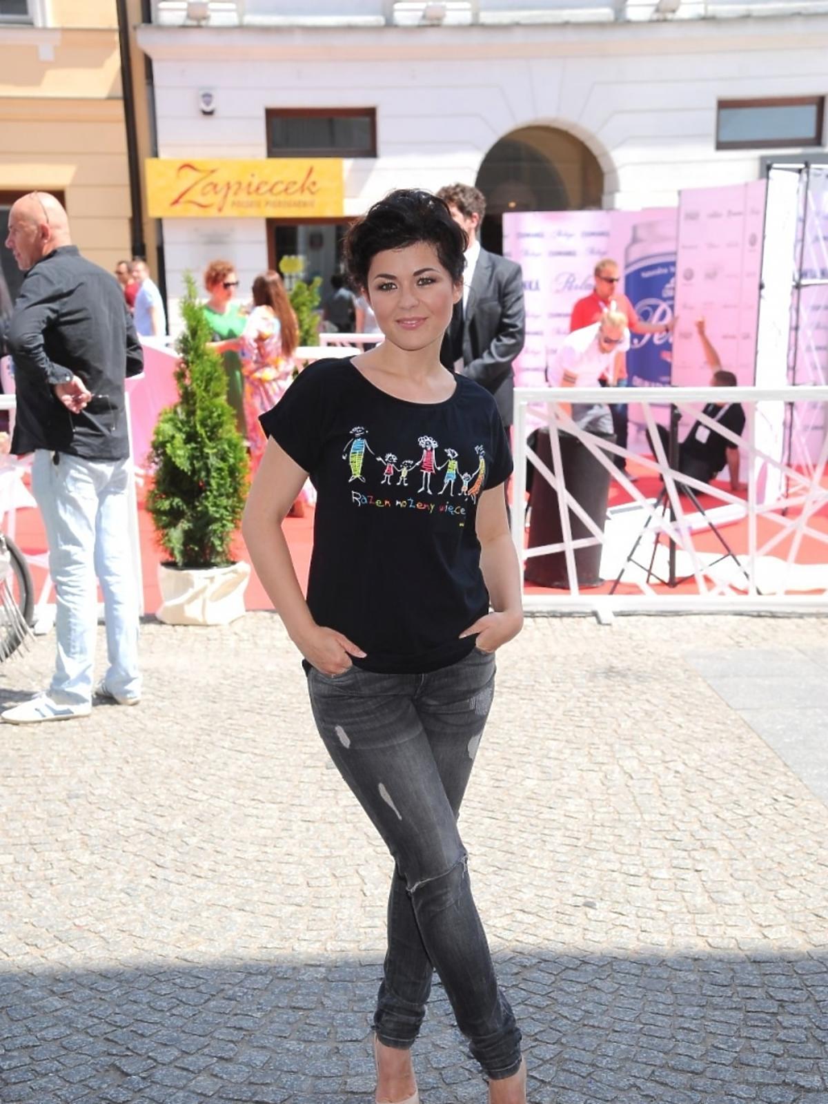 Katarzyna Cichopek na Street Fashion