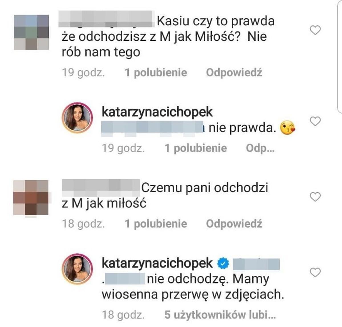 Katarzyna Cichopek odpowiada na pytania fanów- komentarze
