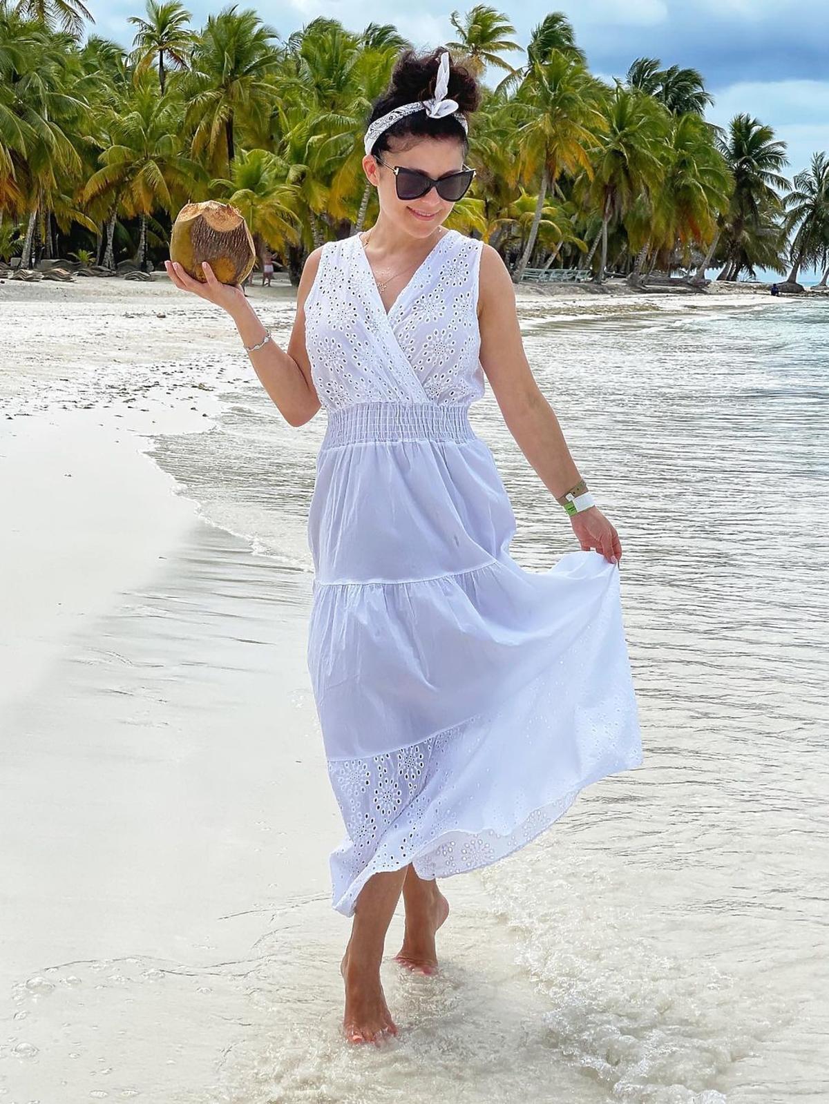 Katarzyna Cichopek w białej sukience