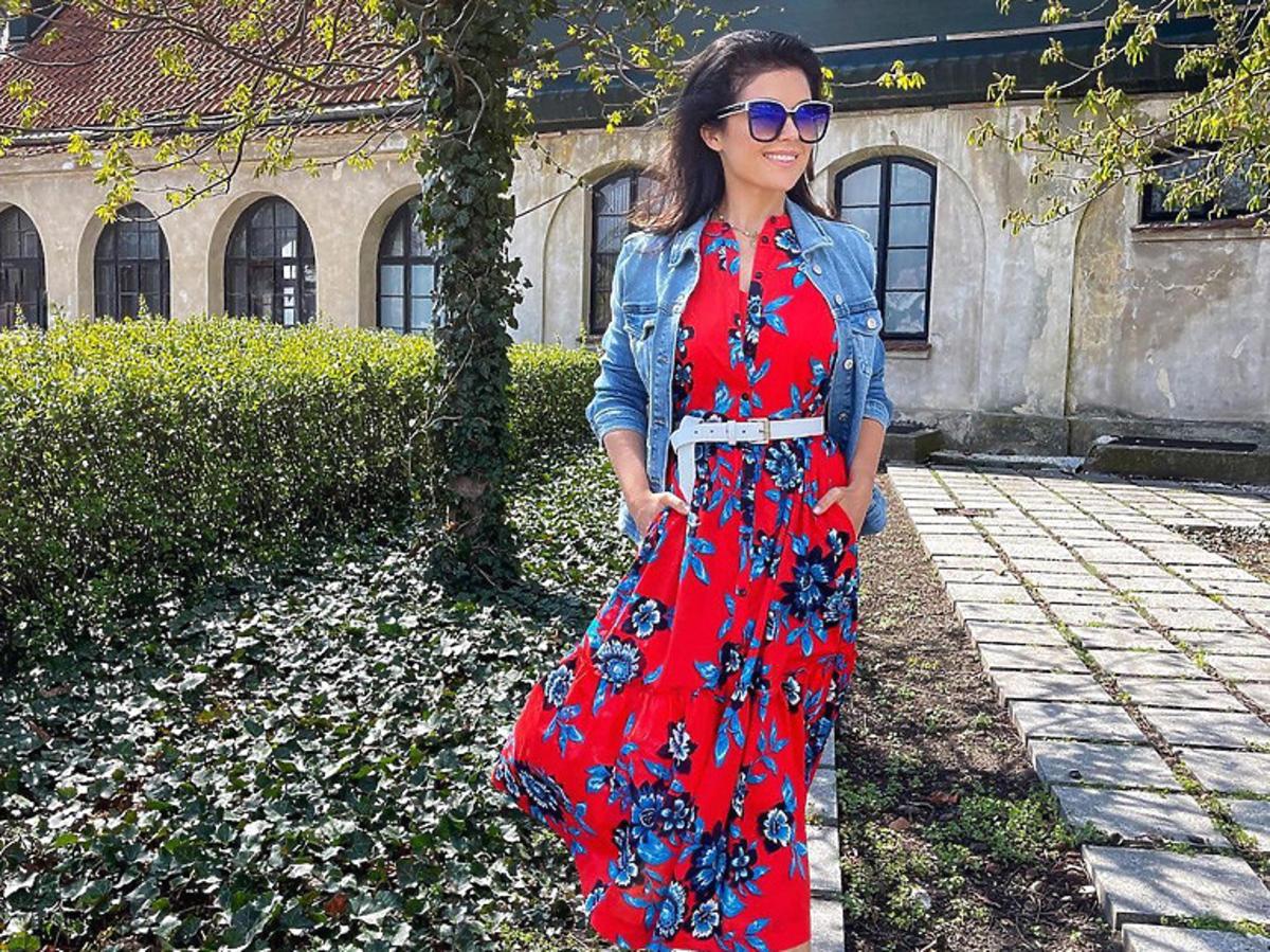 Katarzyna Cichopek w czerwonej sukience