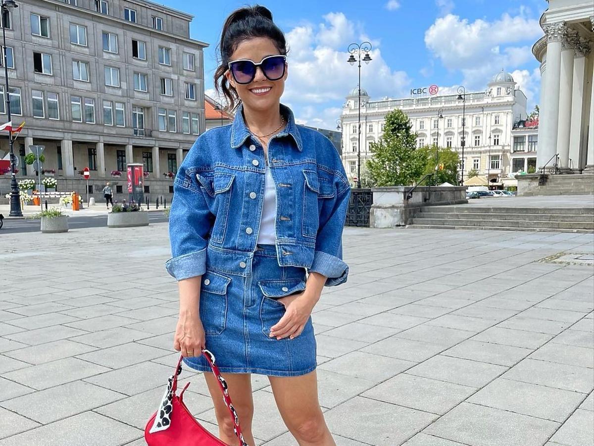 Katarzyna Cichopek w hitowej jeansowej stylizacji
