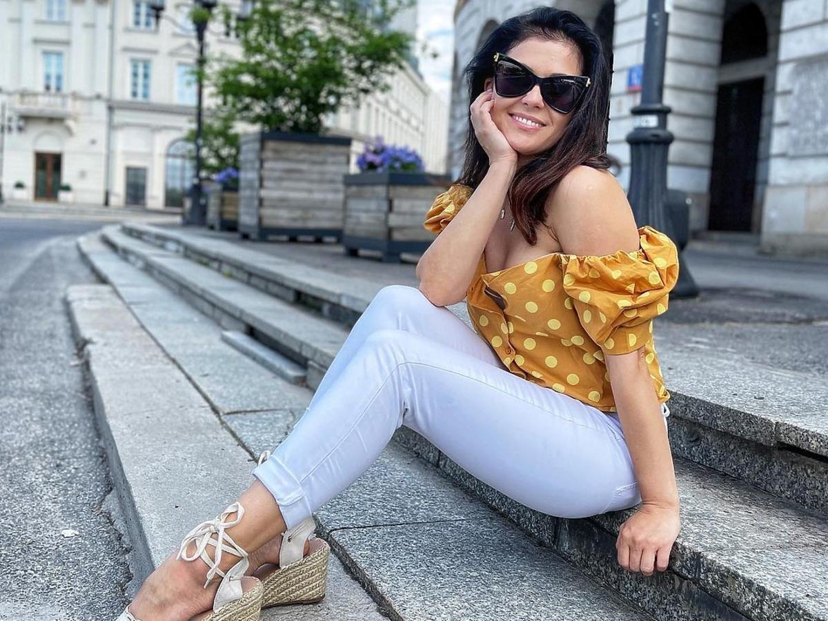 Katarzyna Cichopek w modnych espadrylach na lato