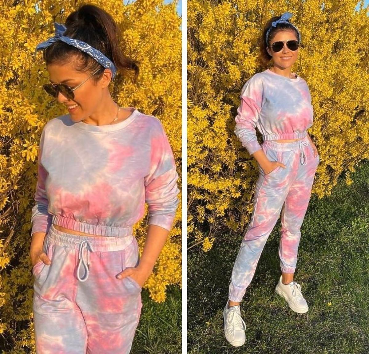Katarzyna Cichopek w modnym dresie na wiosnę