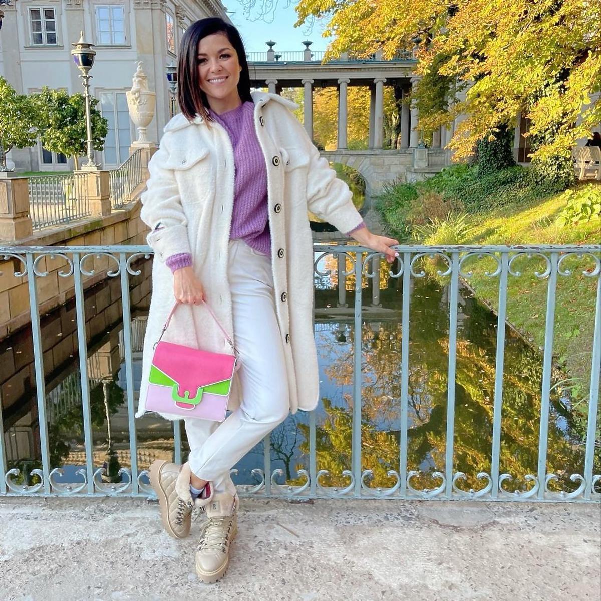 Katarzyna Cichopek w modnym płaszczu