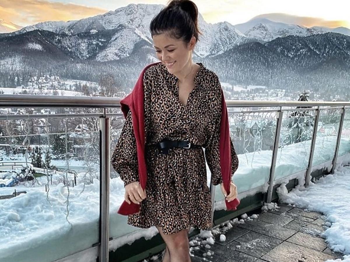 Katarzyna Cichopek w sukience w cętki
