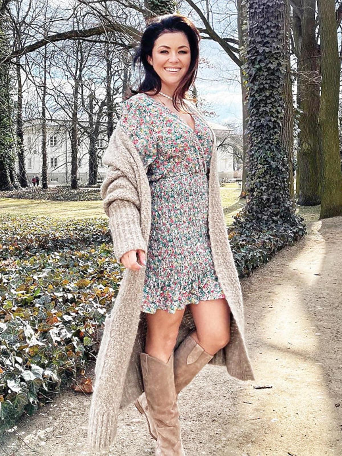 Katarzyna Cichopek w sukienkach w kwiaty na wiosnę 2021