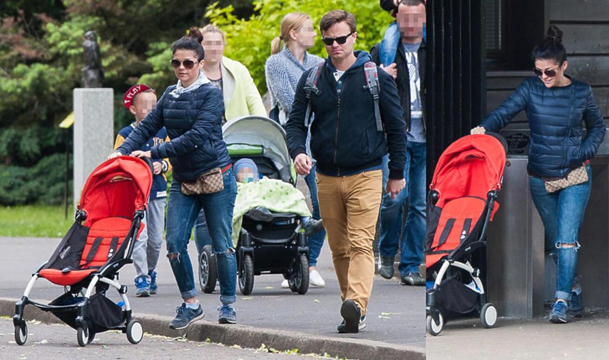 Katarzyna Cichopek z mężem i dziećmi w zoo