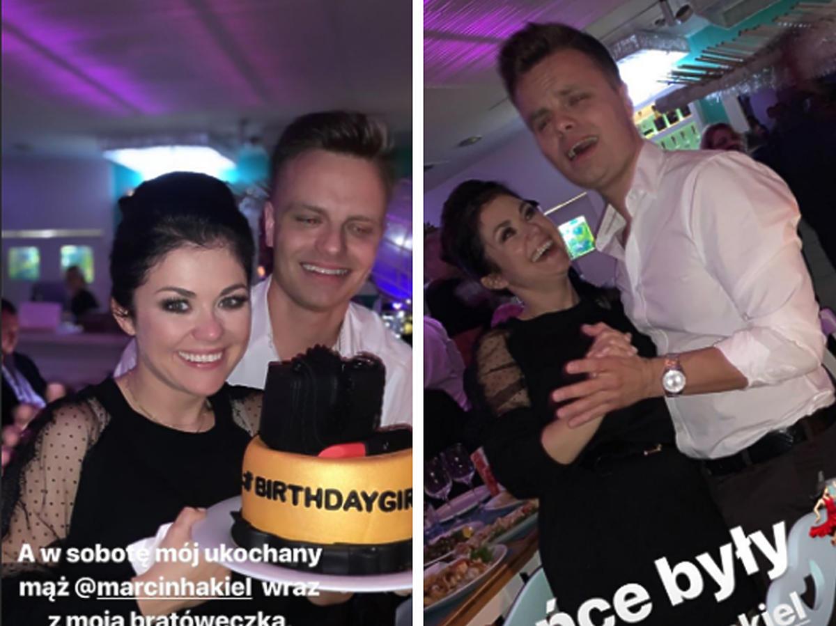 Katarzyna Cichopek z tortem Marcin Hakiel