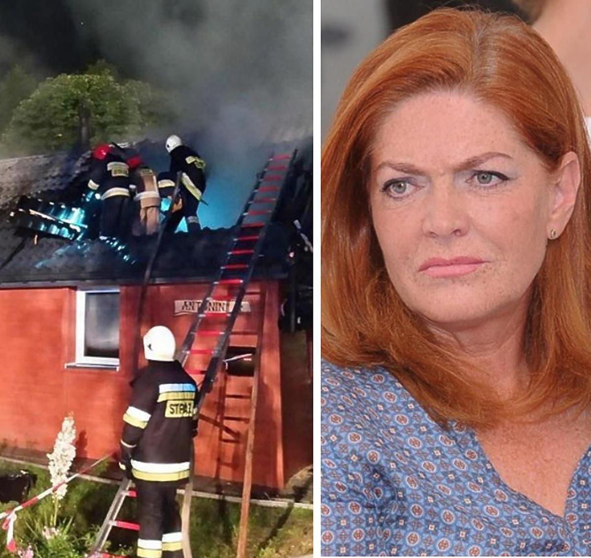 Katarzyna Dowbor o pożarze domu uczestniczki