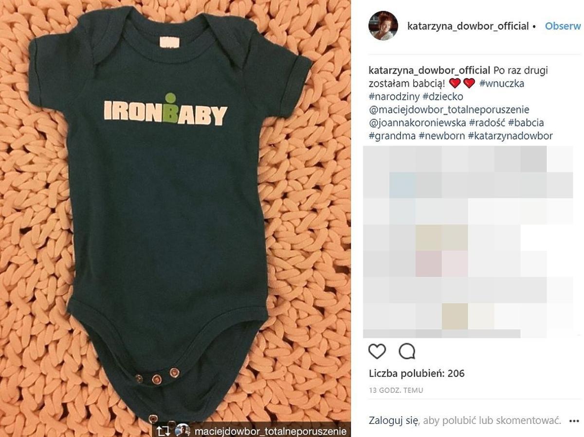 Katarzyna Dowbor skomentowała narodziny wnuczki