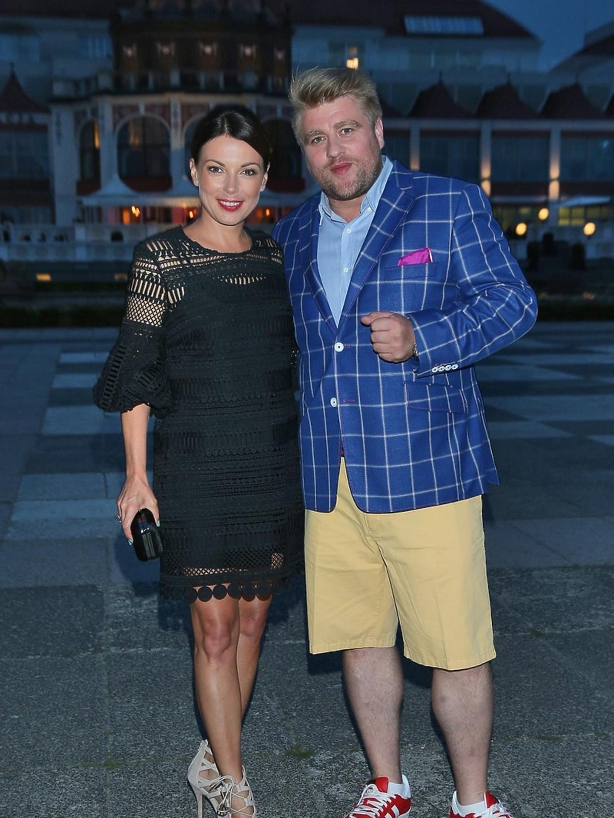 Katarzyna Glinka i Tomasz Jakubiak na Orange Kino Letnie w Sopocie