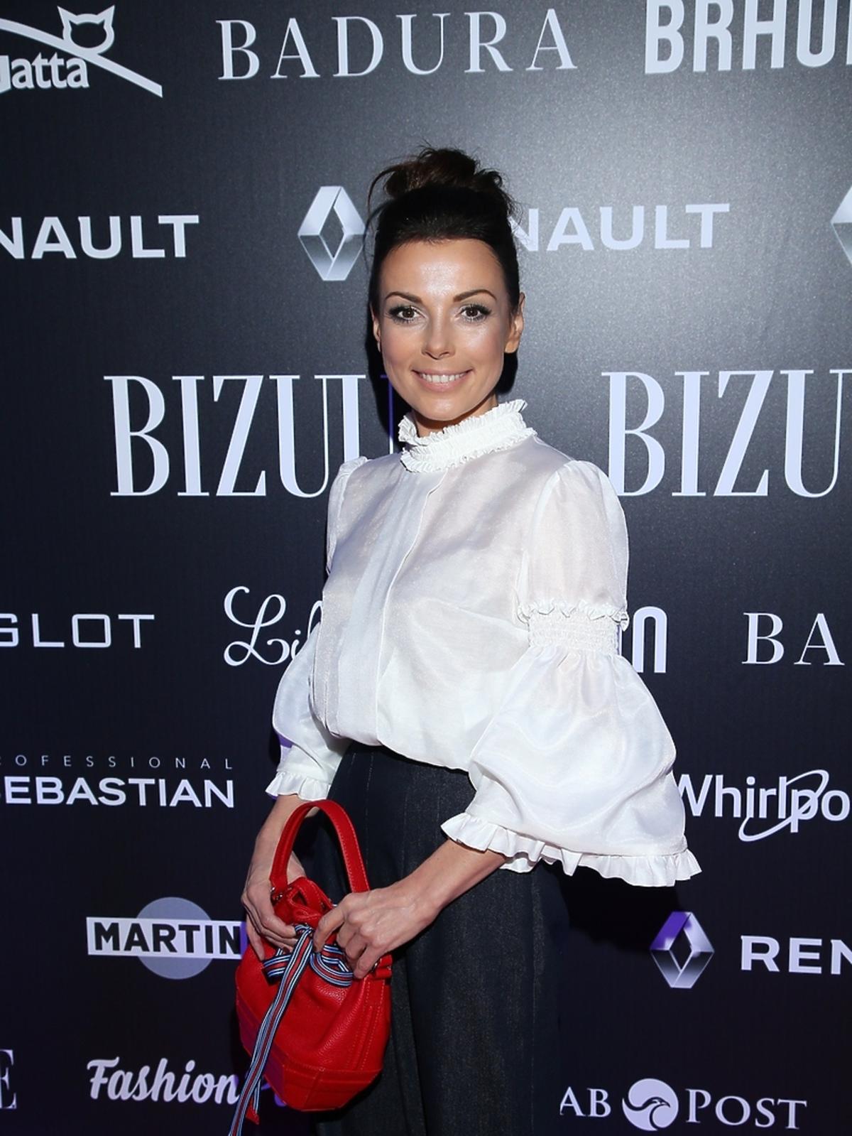 Katarzyna Glinka na pokazie Bizuu