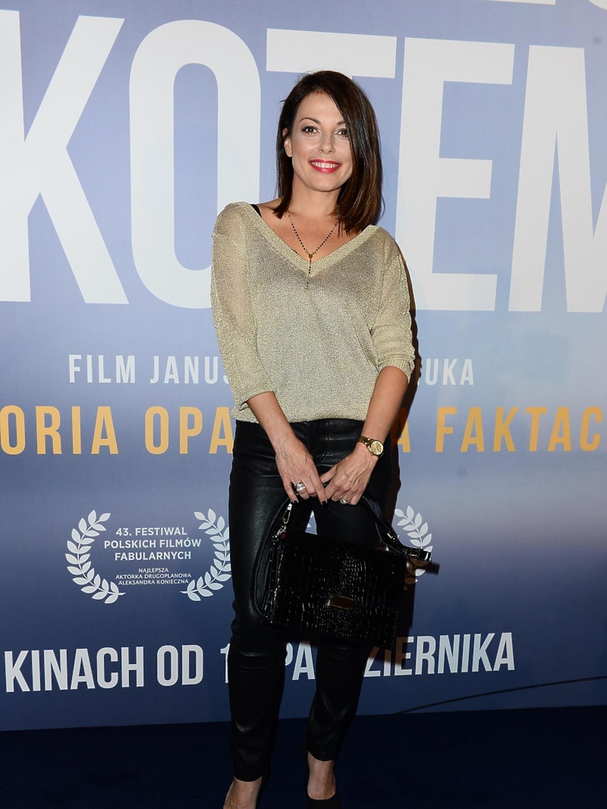 Katarzyna Glinka na premierze filmu