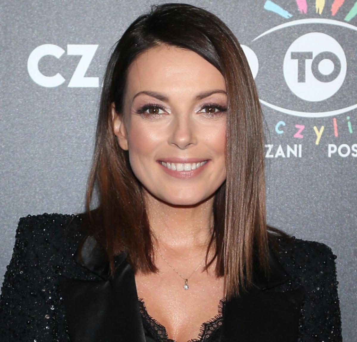 Katarzyna Glinka na premierze sztuki